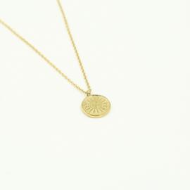 Gouden ketting met hanger 'Summer'