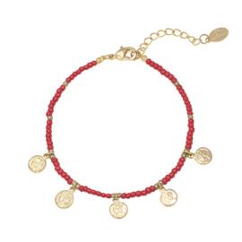 Armband 'Spiritual' rood