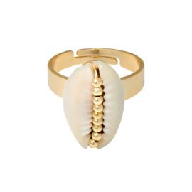 Ring met schelp 'Shell' goud