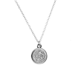 Ketting 'Sweet Coin' zilver