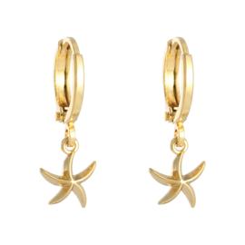 Oorbellen 'Starfish' goud