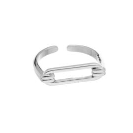 Zilveren ring 'Rosa'