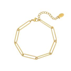 Schakelarmband 'Plain Chain' goud