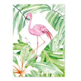 Kaart 'For You' flamingo