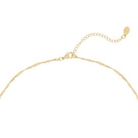 Gouden ketting met hart 'Show Me Love'