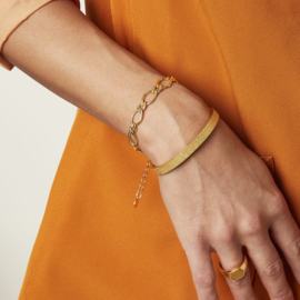 Armband met grote schakels 'Chunky Chain' goud