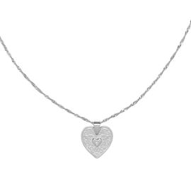 Ketting met hart 'Love Me' zilver