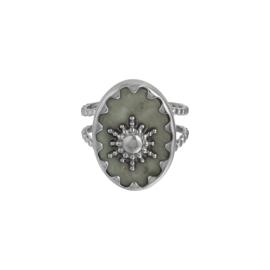 Ring 'Nora' grijs/zilver