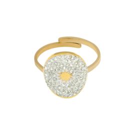 Ring 'Olivia' wit/goud