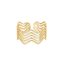 Gouden ring met vijf laagjes 'Hailey'