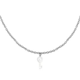 Zilveren ketting met sleutel 'Special Key'