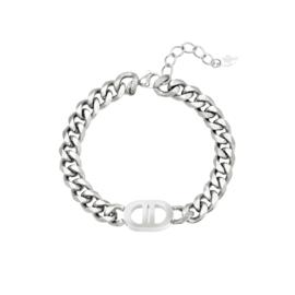 Zilveren schakelarmband 'Chloë'