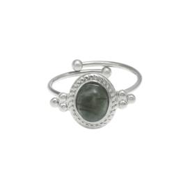 Ring 'Amelia' grijs/zilver