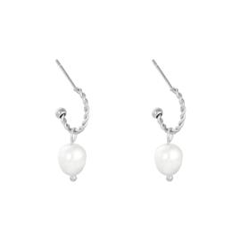 Oorbellen met parels 'Pearls' zilver