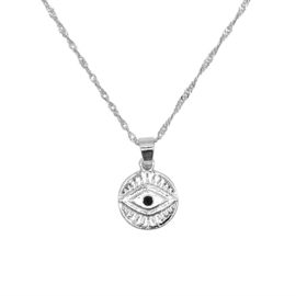 Ketting 'Curious Eyes' zilver