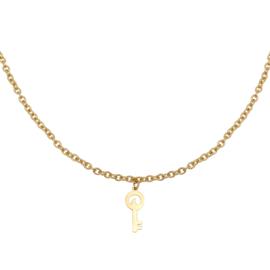 Gouden ketting met sleutel 'Special Key'
