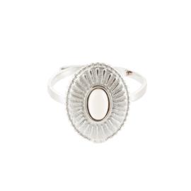 Ring met natuursteen 'Saint Laurent' zilver