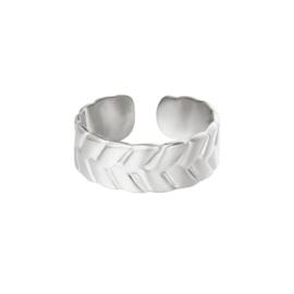 Ring met patroon 'Puck' zilver