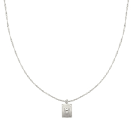 Ketting 'Show Me Love' zilver
