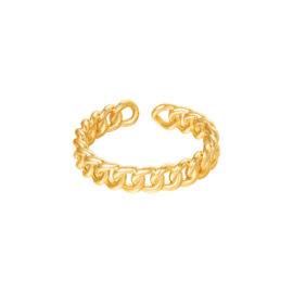 Ring met schakels 'Chained' goud