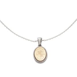 Zilveren ketting met hanger 'Cupido'