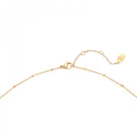 Gouden ketting met hanger zon 'Sun Sign'