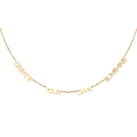 Gouden ketting met quote 'Create Your Own Sunshine'