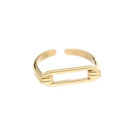 Gouden ring 'Rosa'