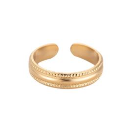 Minimalistische ring  'Eva' goud
