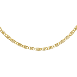 Gouden schakelketting Griekse stijl 'Femme'