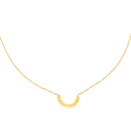 Gouden ketting met zon 'Sunny'