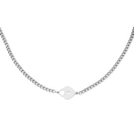 Zilveren ketting met hart 'Locked Heart'