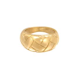 Gevlochten ring 'Braided' goud
