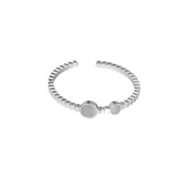 Minimalistische ring 'Anna' grijs/zilver