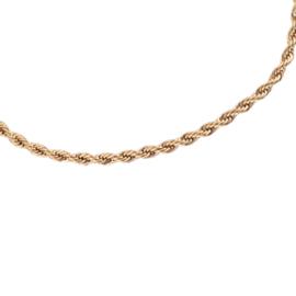 Armband met gedraaide schakels 'Millie' goud