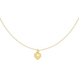 Gouden ketting met hartje 'My Heart'