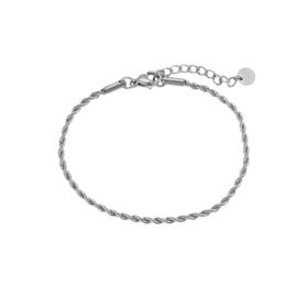 Armband met gedraaide schakels 'Millie' zilver