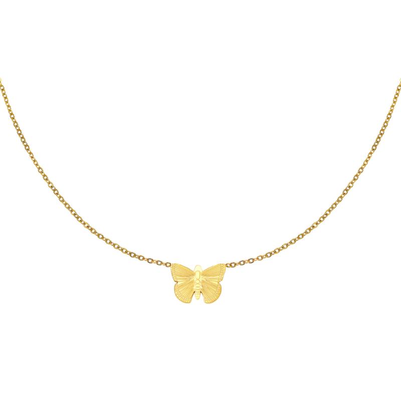 Gouden ketting met vlinder 'Butterfly'