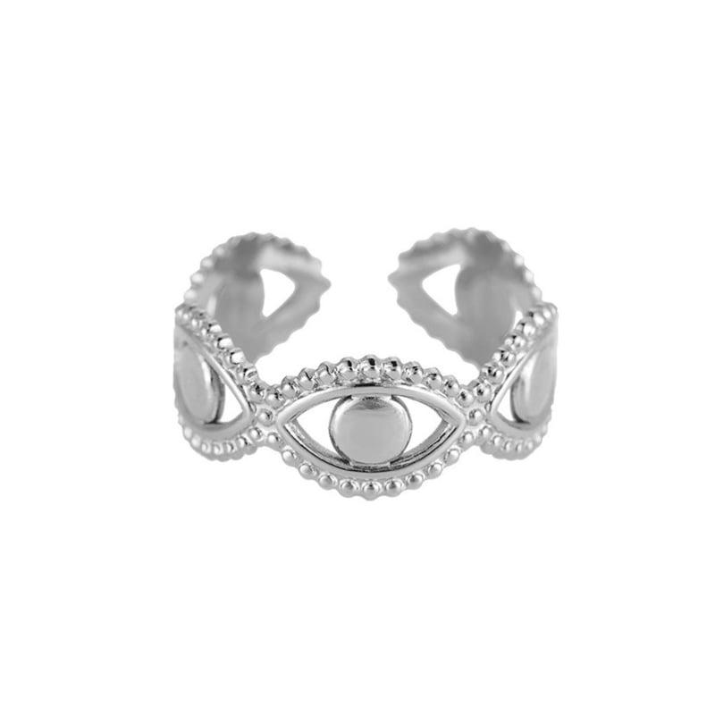Zilveren ring met ogen 'Tessa'