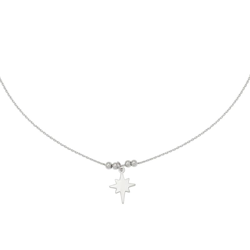 Zilveren ketting met ster 'Universe Star'