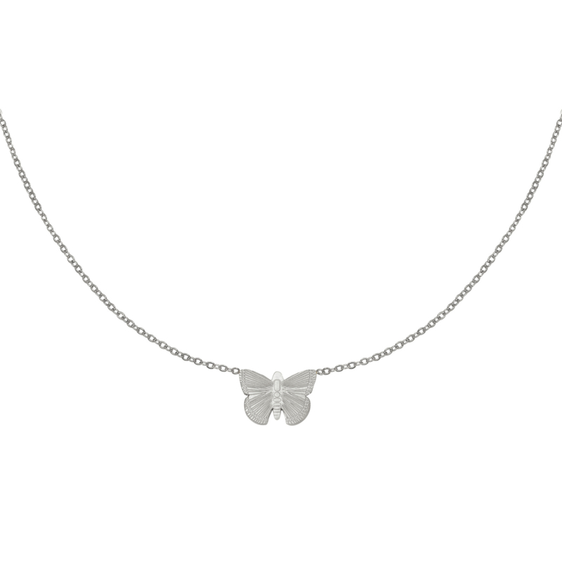 Zilveren ketting met vlinder 'Butterfly'