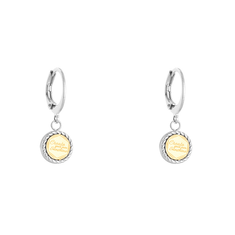 Oorbellen 'Create Your Own Sunshine' zilver