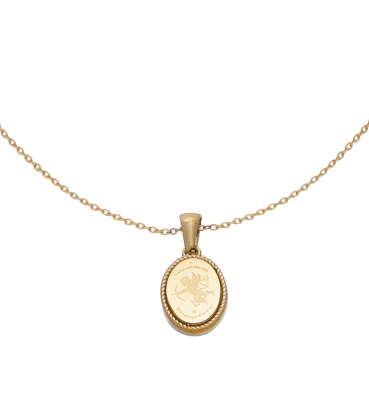 Gouden ketting met hanger 'Cupido'