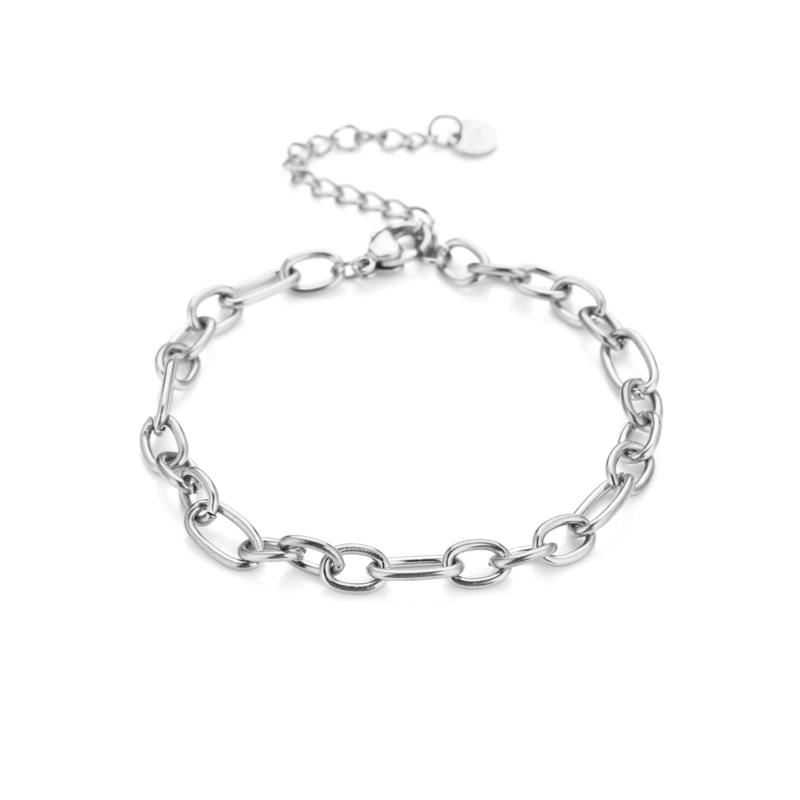 Zilveren armband met grove schakels 'Megan'