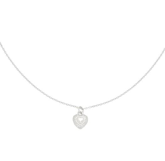 Zilveren ketting met hartje 'My Heart'