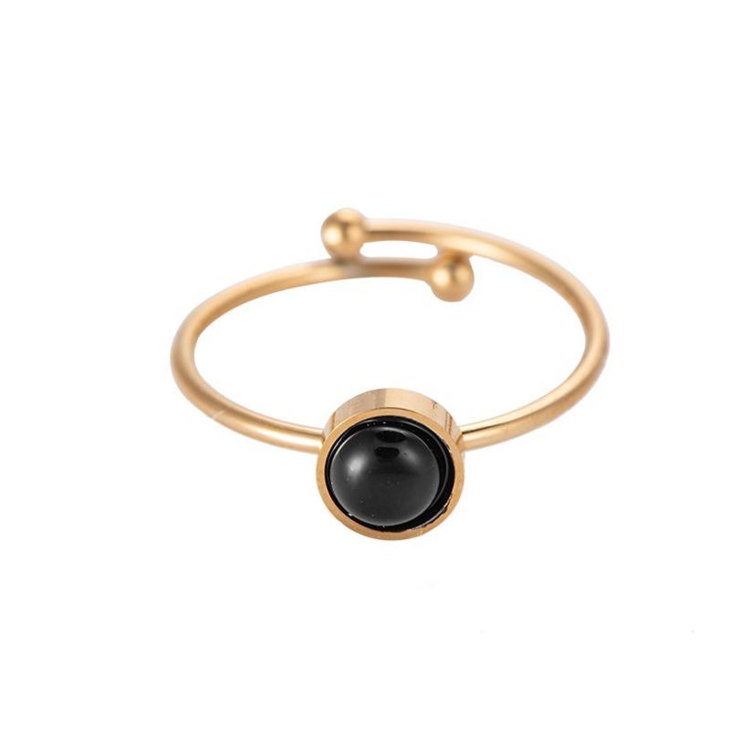 Ring met natuursteen 'Ava' goud