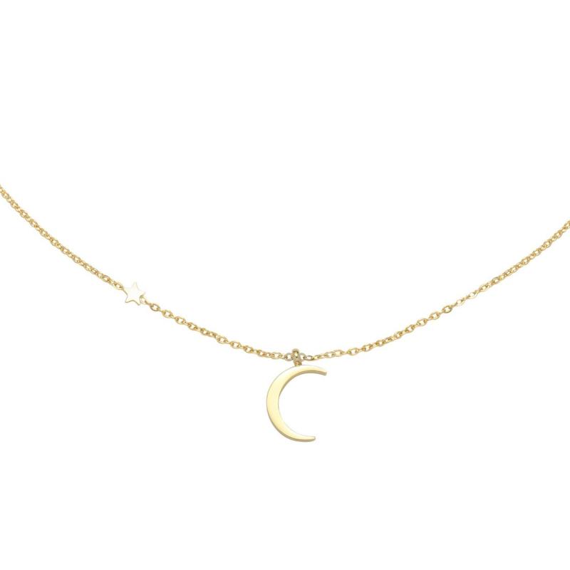Gouden ketting met maan 'Moonlight'