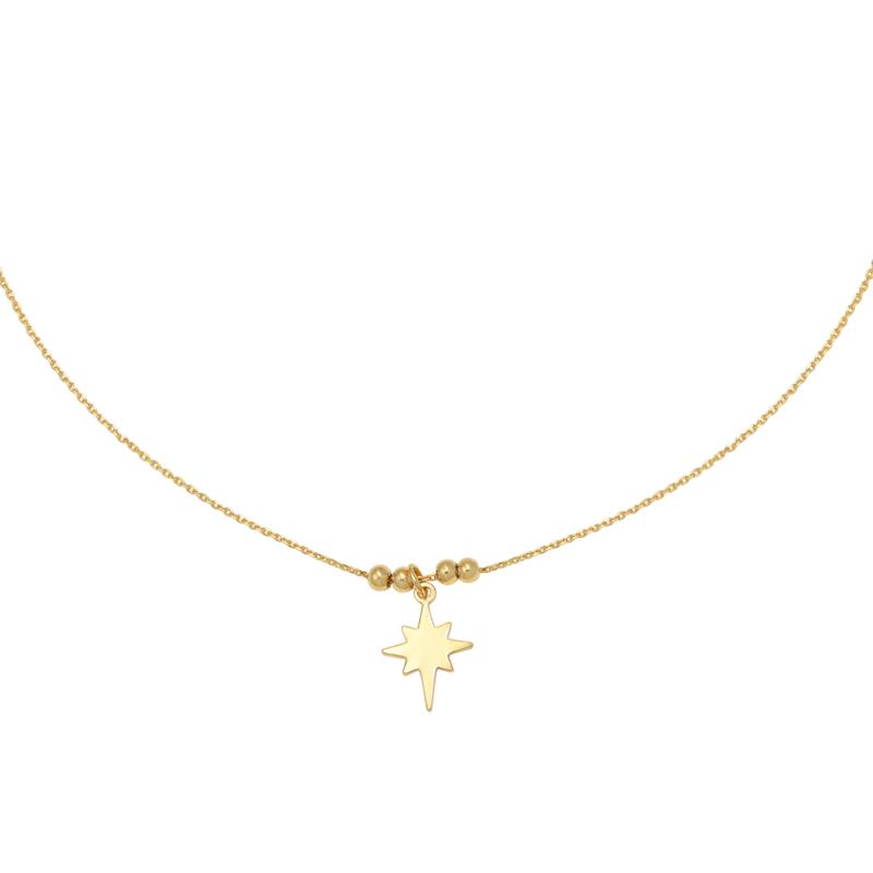 Gouden ketting met ster 'Universe Star'