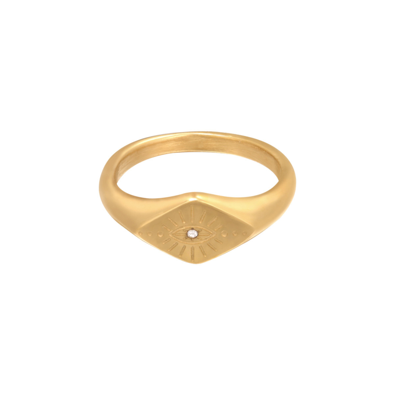 Ring 'Evil Eye' goud