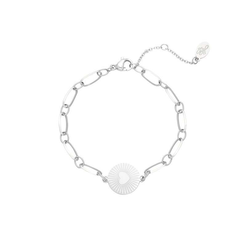 Armband 'My Heart' zilver